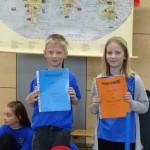 2. Platz im Sprachenwettbewerb Klasse 3