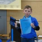 1. Platz im Sprachenwettbewerb Klasse 3