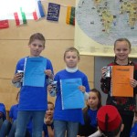 2. Platz im Sprachenwettbewerb Klasse 4